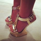Liquid gold   Nike gold, Gold wedge shoes, Wrestling shoes
