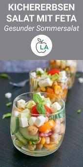 Kichererbsensalat mit Feta und Avocado – Vegetarisch & einfach   – Salat