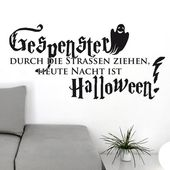 Wandtattoo Gespenster durch die Straßen East Urban Home Farbe: Silbergrau, Größe: 50 cm H x 103 cm B