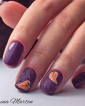 72+ Perfekte Nagelideen für den Herbst, die Sie bezaubern   – Nail Designs