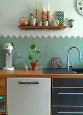 Kitchen Makeover Wall Tile Mirror Teil 1: Drei außergewöhnliche Fliesen für die Küche   – Kacheln und Fließen