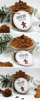 DIY Sugar Scrub / Zuckerpeeling Lebkuchen selbermachen – Weihnachten