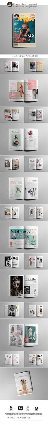 Fashion Magazine #magazinedesign #magazinelayout #indesign #magazines #fashionma…  – Layout Inspiration