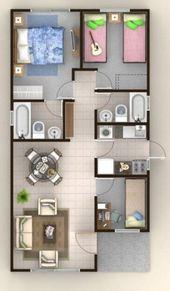 Disenos Arquitectonico De Casa En Terreno De 8 X 20 Metros Croquis De Casas Pequenas Planos De Casas Medidas Planos De Casas Pequenas Modernas