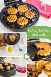 Ingeniously simple: cook cookies in the waffle iron!