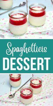 Spaghettieis Dessert – schneller Nachtisch aus dem Thermomix. Auf Kindergeburtstagen der Hit.