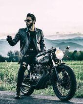 Lederschmuck und Motorrad – Der neue Trend   – Photography Reference Men