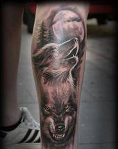Tattoo Wolf – 60 inspirierende Ideen für Männer und Frauen – # Shapes #Women #… – Tatos