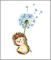 Hedgehog Nursery Art Print, Children Wall Decor, Kids Wall Art, Baby Room Wall Art, Animal Set Nursery Print, Children Art Print