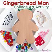 Decorate a Gingerbread Man Art Activity for Kids – Home Preschool Ideas