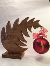 Christmas Tree Ornament Hanger – christmas ornament holder – christmas ornament display stand – wooden tree ornament stand