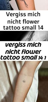 Do not forget me flower tattoo small 14 1  – Tattoos
