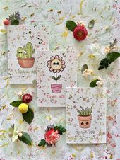 Baby Ilustration Green Thumb Baby Stationery