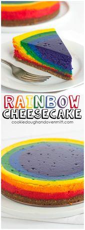 Photo of Rainbow Cheesecake | St. Patrick's Day Dessert | Cookie Doug…