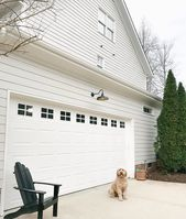 """Jennifer on Instagram: """"For some reason I had such a hard time with deciding on a light for above the garage door. I ordered one from Barn Light Electric (too…"""""""