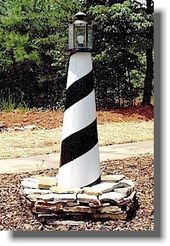 How to Build a 4 ft Wooden Lawn Lighthouse DIY Wood Plans
