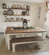 30+ Creative Farmhouse Table Design Ideas With Rustic Style