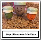 Étape 1 aliments pour bébés faits maison   – Baby Food