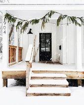 40 beste einfache Winter Outdoor-Dekorationen   – Noël :lumiere,formes deco extérieur