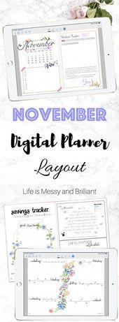 My November Digital Planner Layout