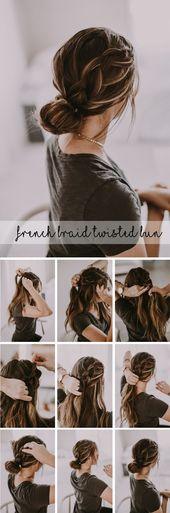 French Braid Bun Tutorials | Holiday Hairstyles | Dani Marie