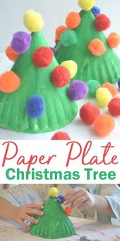 Make this fun and colorful Paper Plate Christmas T…