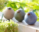 Grandes amigos, gorrión de cerámica, todo de cerámica, decoración de jardín, nuevos productos 2015   – Töpfern