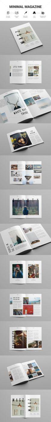 Minimal Lifestyle Magazine Template PSD #design Download: graphicriver.net/ – Fi…
