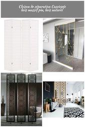 Cloison de séparation 4 panneaux Style japonais 160x170cm Blanc – VIDAXL Cloiso…