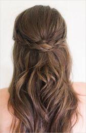 Frisuren halb zur Hälfte für mittlere Haare #j…
