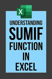 #Excel #Functions: SUMIF Introduction + Examples