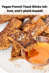 Vegan French Toast Sticks (oil-free)