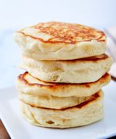 Five ingredient, super easy Homemade Pancakes Without Eggs. Fluffy and airy text…   – Pancakes Ideen