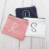 Coin Purse – Monogram Initial – Small Make up Bag – Change Purse – Small Credit Card Wallet – Zip Money Bag – Monogram Maven – CP01