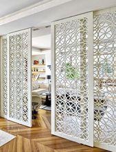 Home-Offices Meine Garderobe im Bazaar-Sichtschutz