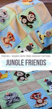 Baby Blanket Baby Blanket Jungle FriendsFree Crochet Pattern