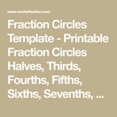 Fraction Circles Template Printable Fraction Circles Halves