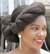 Elegant Updo for Natural Hair #naturalhaircare - #elegant #natural #naturalhaircare - #Hairsty