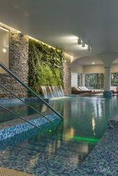 أفكار تصميم حوض سباحة صغير جذاب 20 – Interior garden