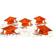 Orange Graduation Table Decorating Kit 11pc