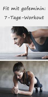 Etwas Zeit? Hier kommt das beste 7-tägige Training für alle Stresspatienten   – Fitness Übungen // Ernährungstipps // Zuhause trainieren
