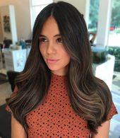 50 dunkelbraune Haare mit Highlights-Ideen für 2019 – Hair Adviser #darkbrownhair