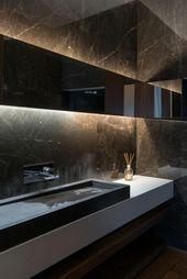 Photo of Decorate bathroom in dark tones – dare to use colors
