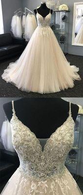 Langes Kleid aus Champagner-Tüll, langes Abendkleid, Champagner-Abendkleid, 830316