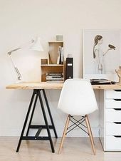 55+ Awesome and Subtle Home Office Scandinavian Design Ideas