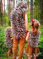 Make hedgehog costume yourself