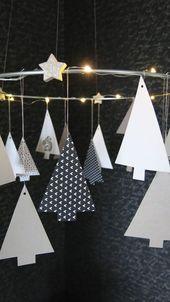 Tannenkranz mit Beleuchtung – schwarz auf weiß-…