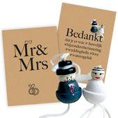 Trouwen vol geluk Basic Mr & Mrs versie stoer 25 stuks   Trouwen en liefde   gel…