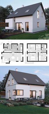 Kleines Einfamilienhaus ELK Haus 115 – ELK Fertighaus | direkter Aufbau   – Remodel pins