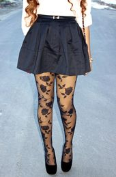 3fc4d5bfa77d4 Viva Luxury Blogger Annabelle Fleur Models HUE's Red-Hot Winter Looks |  Show some leg! | Pinterest | Cute tights, Patterned tights and Lace tights